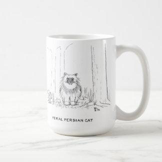 Feral Persian cat Mug