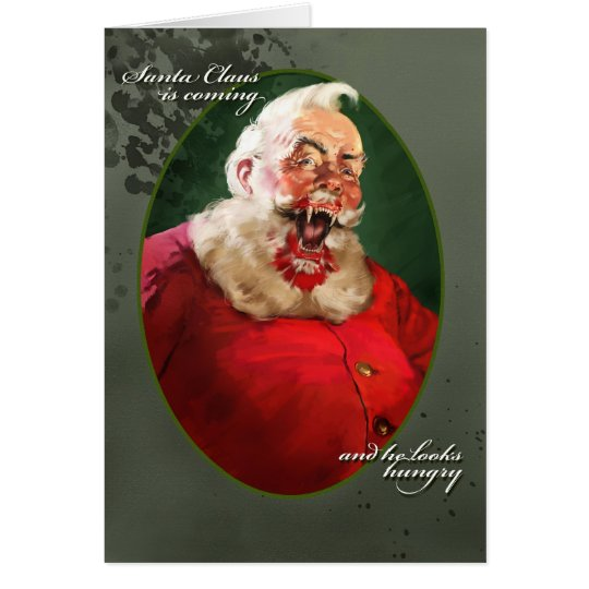 Feral Santa Christmas Card