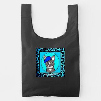 Feralartist Portrait on Reuseable Baggu Reusable Bag