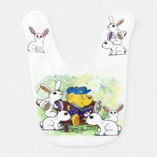 Ferald and The Bunnies Baby Bib