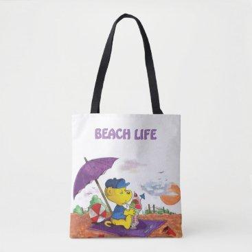 Beach Themed Ferald | Beach Tote Bag