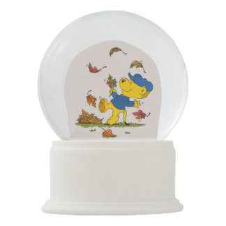 Ferald Dancing Amongst The Autumn Leaves Snow Globe