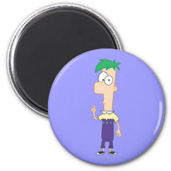 Round Magnet with Ferb of Phineas and Ferb design