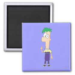 Square Magnet with Ferb of Phineas and Ferb design