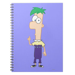 Photo Notebook (6.5' x 8.75', 80 Pages B&W) with Ferb of Phineas and Ferb design