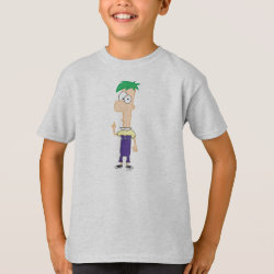 Kids' Hanes TAGLESS® T-Shirt with Ferb of Phineas and Ferb design