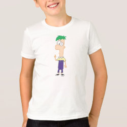 Kids' American Apparel Fine Jersey T-Shirt with Ferb of Phineas and Ferb design