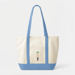 Impulse Tote Bag with Ferb of Phineas and Ferb design