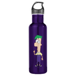 Water Bottle (24 oz) with Ferb of Phineas and Ferb design