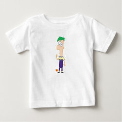 Baby Fine Jersey T-Shirt with Ferb of Phineas and Ferb design