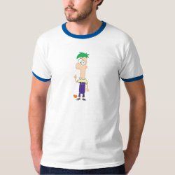 Men's Basic Ringer T-Shirt with Ferb of Phineas and Ferb design