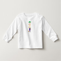 Toddler Long Sleeve T-Shirt with Ferb of Phineas and Ferb design