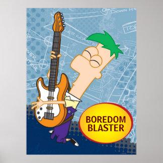 Ferb en el personalizable de la guitarra póster