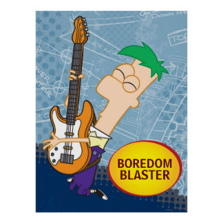Ferb on the Guitar Customizable Posters