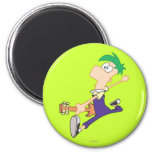 Ferb Rocking Out with Guitar 2 Inch Round Magnet