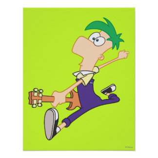Ferb Rocking Out with Guitar Poster