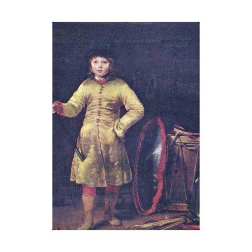Ferdinand Bol - Otto in Polish costume Canvas Print