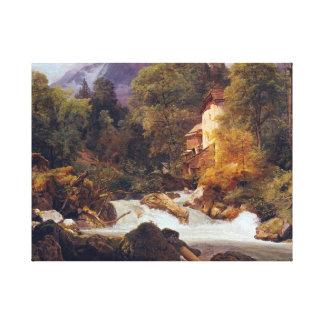 Ferdinand Georg Waldmüller Mill Outlet of Königsse Canvas Print