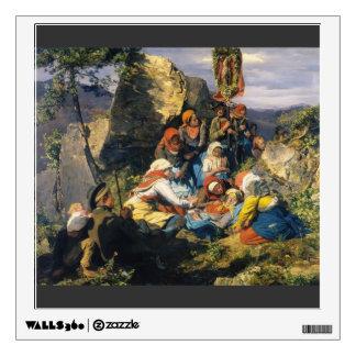 Ferdinand Georg Waldmüller- The sick pilgrim Wall Graphics