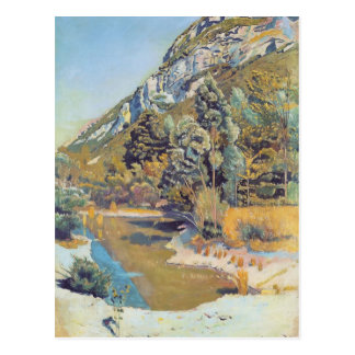 Ferdinand Hodler- At the foot of the Petit Saleve Postcard