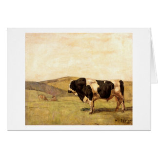 Ferdinand Hodler - Bull in a Pasture Stationery Note Card