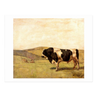 Ferdinand Hodler - Bull in a Pasture Postcard