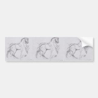 Ferdinand Hodler- Cavalryman striding a horse Bumper Sticker