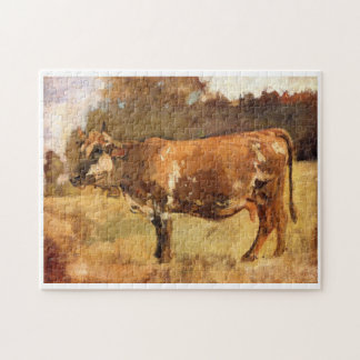 Ferdinand Hodler, Cow in a Pasture Jigsaw Puzzle
