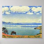 Ferdinand Hodler - el lago Lemán de Chexbres Posters