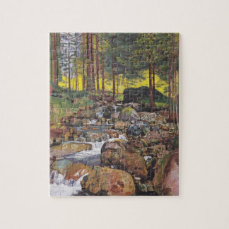 Ferdinand Hodler- Forest with a mountain stream Jigsaw Puzzle