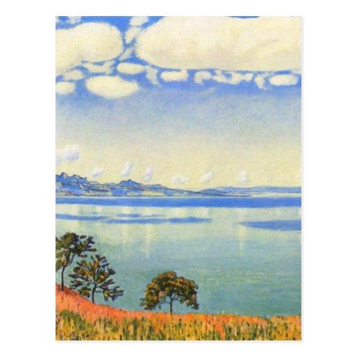 Ferdinand Hodler - Lake Geneva from Chexbres Postcard