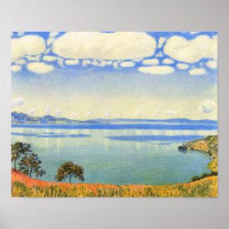 Ferdinand Hodler - Lake Geneva from Chexbres Posters