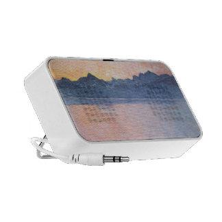 Ferdinand Hodler- Lake Geneva with Mont Blanc Portable Speaker