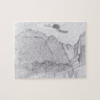 Ferdinand Hodler-Lauterbrunnen Valley&dust stream Jigsaw Puzzles