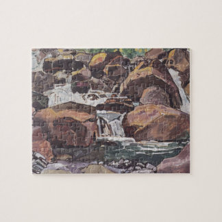 Ferdinand Hodler- Mountain stream near Champéry Puzzles