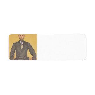 Ferdinand Hodler- Portrait of Willy Russ Return Address Label