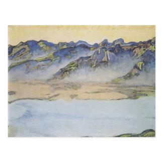 Ferdinand Hodler- Rising mist over the Savoy Alps Post Cards