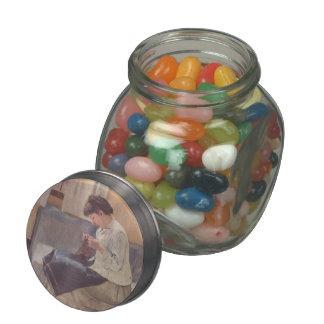 Ferdinand Hodler- Seamstress Glass Jars