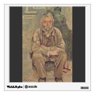 Ferdinand Hodler- Seated bearded man Wall Graphics