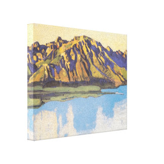 Ferdinand Hodler- The Grammont in the morning sun Canvas Print