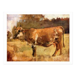 Ferdinand Hodler - vaca en un pasto Postal