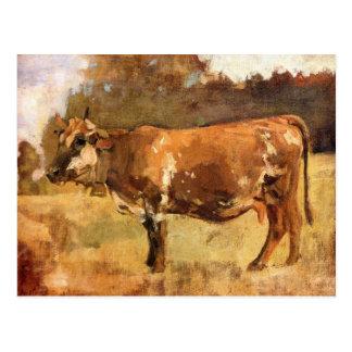 Ferdinand Hodler, vaca en un pasto Postal