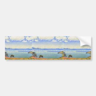 Ferdinand Hodler- View of Lake Leman from Chexbres Car Bumper Sticker