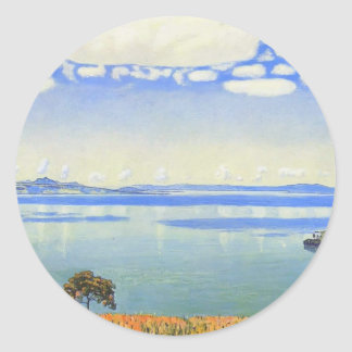 Ferdinand Hodler- View of Lake Leman from Chexbres Classic Round Sticker