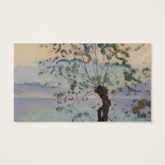 Ferdinand Hodler- Willow tree by the lake Business Card