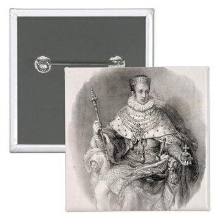 Ferdinand I (1793-1875), King of Lombardy-Venetia, Pinback Button