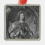 Ferdinand III, Holy Roman Emperor Square Metal Christmas Ornament