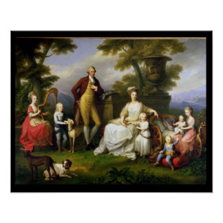 Ferdinand IV  King of Naples, and his Family Poster