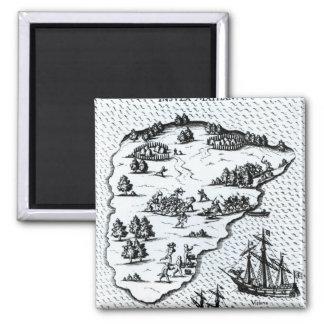 Ferdinand Magellan  Fighting Natives on Island Magnet