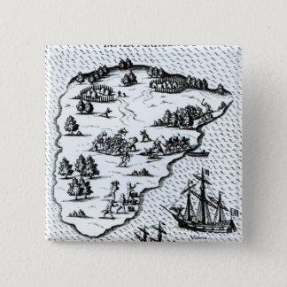 Ferdinand Magellan  Fighting Natives on Island Pinback Button